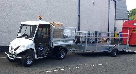 electric road-legal Alke truck