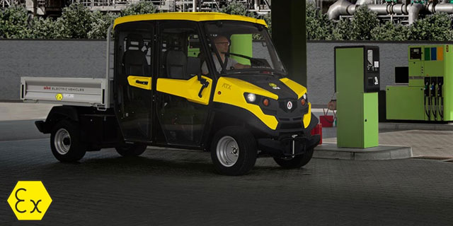 black and yellow electric vehicle
