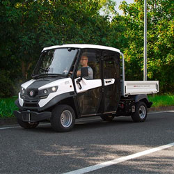 A stylish road legal electric utility truck