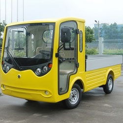 Versatile yellow road legal utility truck