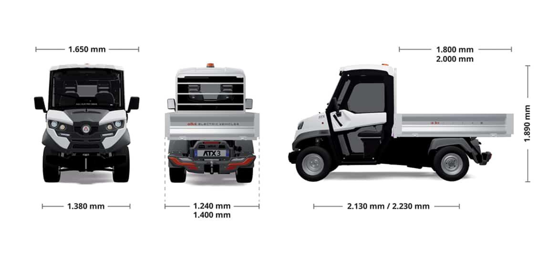 Alke ATX 330 E Electric Utility Vehicle dimensions