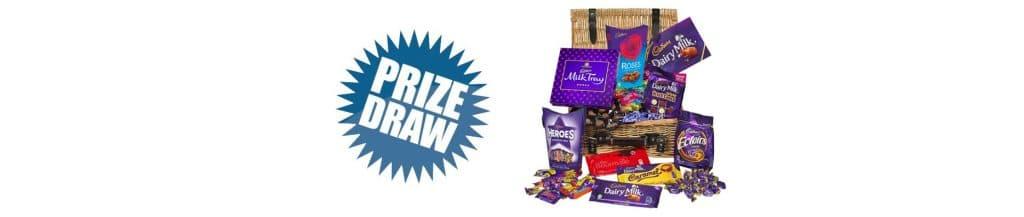 cadburys hamper with prize graphic