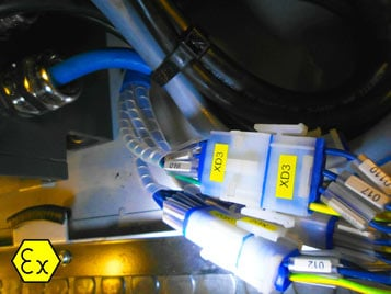 wiring for explosion relief vehicles