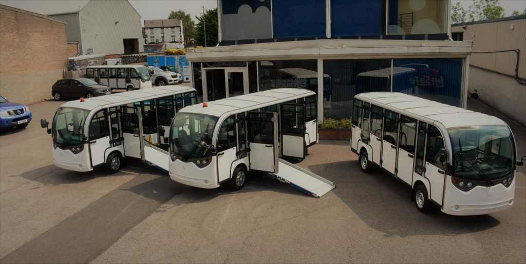 3 Electric Shuttle Buses