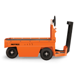 Orange Electric Stock Chaser side view