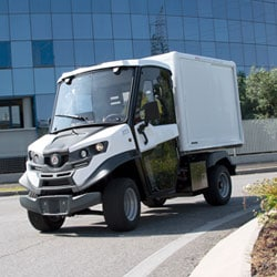 White Last Mile Delivery Alke Truck