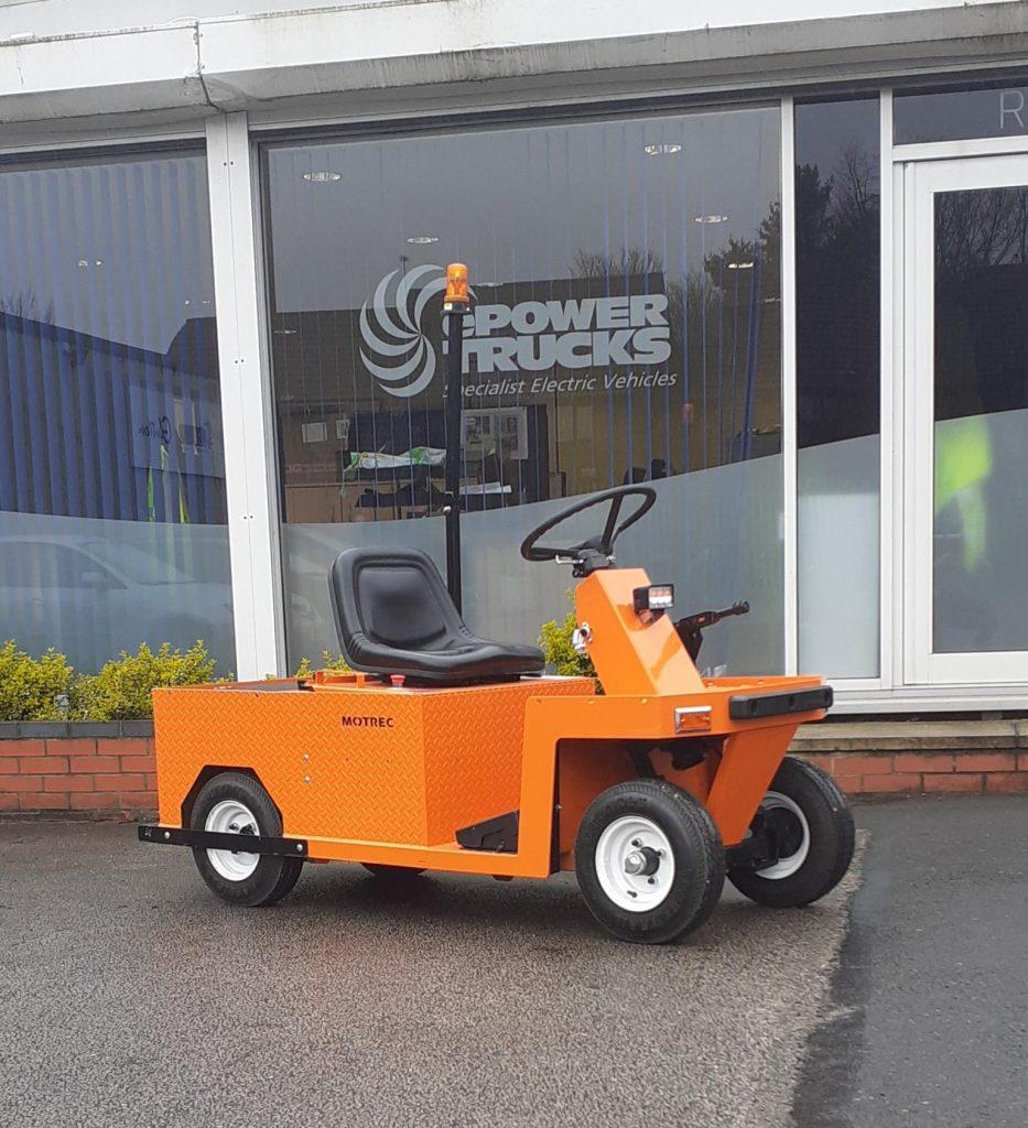 Orange Electric Tow Tug