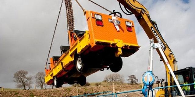 Tunnel Vehicle on crane