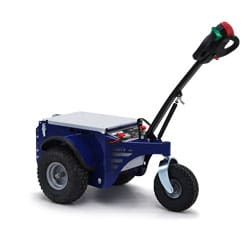 The reliable blue Jobmaster electric pedestrian tug