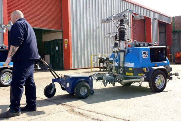 Jobmaster Electric Pedestrian Tug towing equipment