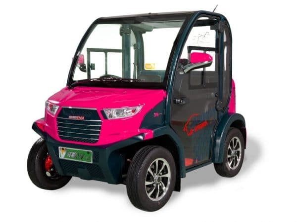Pink EP AMP 2 Seat Electric Vehicle