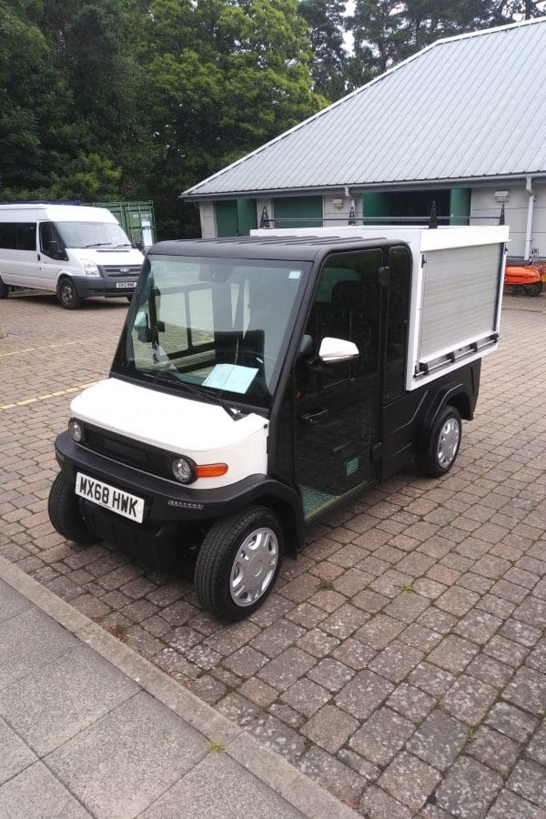 EP AMP XL Road Legal Utility Vehicle In Car Park