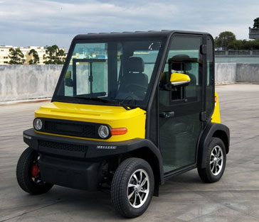 Yellow And Black EP AMP 2 Seat Electric Vehicle