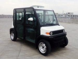 EP AMP 4 Seat Electric Vehicle Right Front View