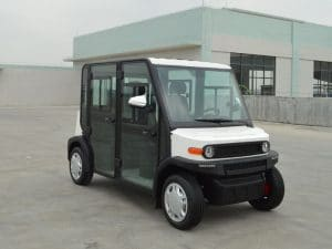 EP AMP 4 Seat Electric Vehicle right side view