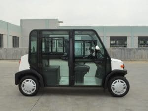 EP AMP 4 Seat Electric Vehicle Side View
