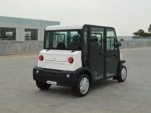EP AMP 4 Seat Electric Vehicle Right Rear View