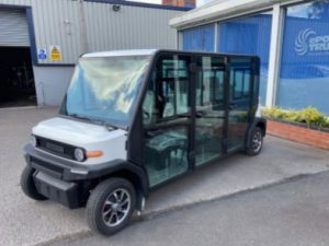 EP AMP 6 Seat Electric Vehicle Left Front View