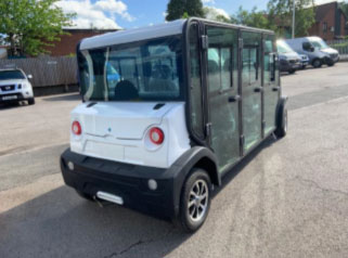EP AMP 6 Seat Electric Vehicle Right Rear View