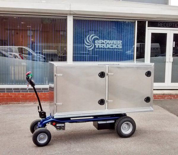 EP 800 Electric Platform Truck with two metal boxes