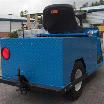 Blue Rear View Of E-242 HD Electric Tow Tug