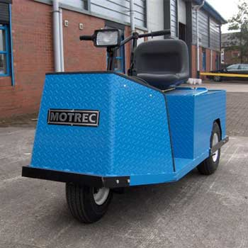 Blue E-242 HD Electric Tow Tug Front View