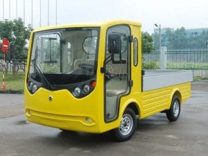 Yellow EP Flatbed Electric Utility Burden Carrier