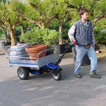 Gardener Using EP 400 Electric Platform Truck