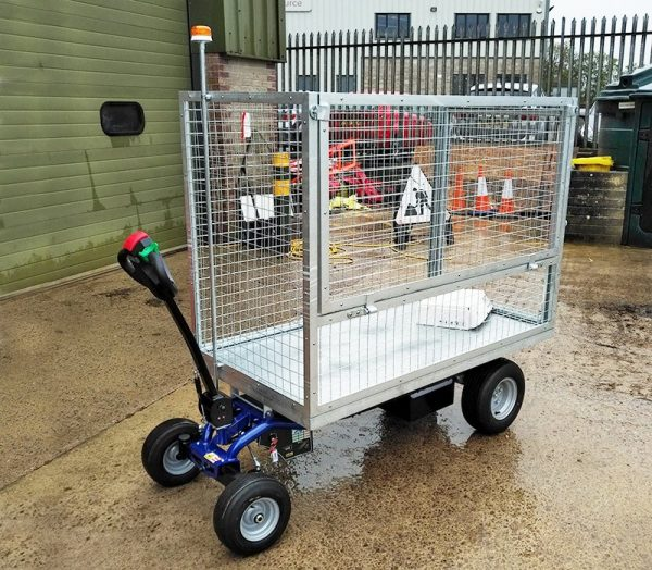 EP 800 Electric Platform Truck with large Metal Cage