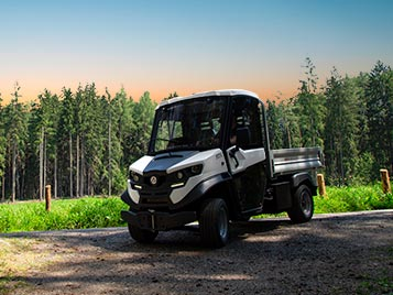 Small Alke ATX 330 E Electric Utility Vehicle In Forest