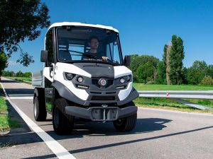 Alke ATX 320 E Electric Compact Utility Vehicle on Small Road