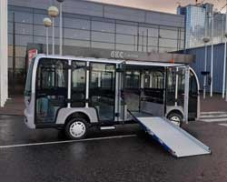 Electric Bus With Ramp