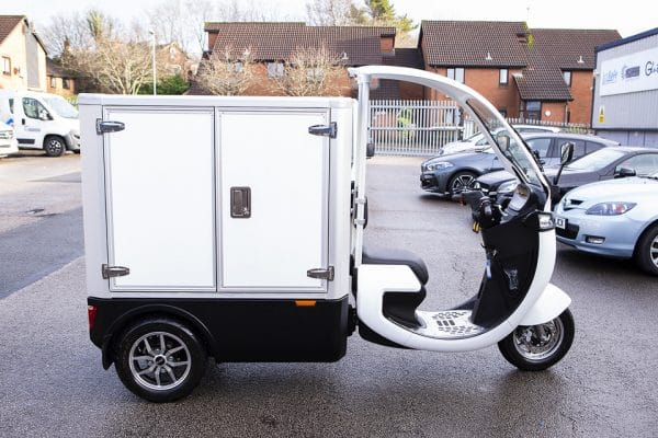 Electric Refrigerated Food Delivery Trike Side View