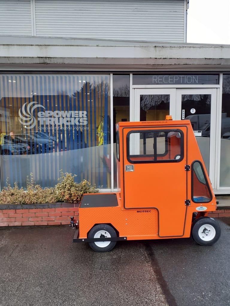 Orange Electric Bin Tug