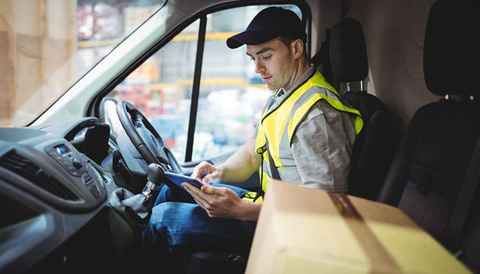 Delivery Driver with Parcel
