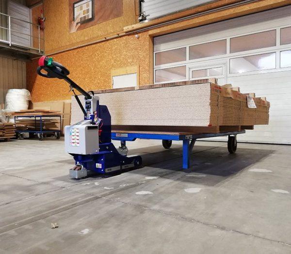 M 16 Electric Pedestrian Tug In Wood Warehouse