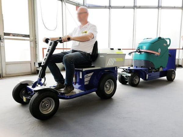 S1 Electric Ride On Tow Tug In Use Towing Equipment