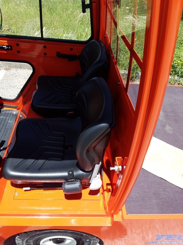 VCA 412 Electric Flatbed Burden Carrier Seating