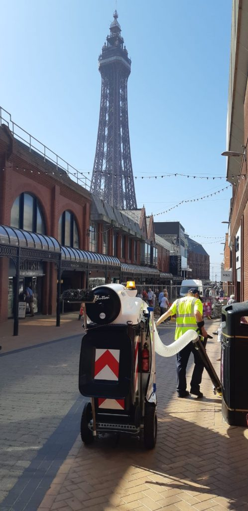 Glutton Blackpool Council - Street Clearing Electric Tool